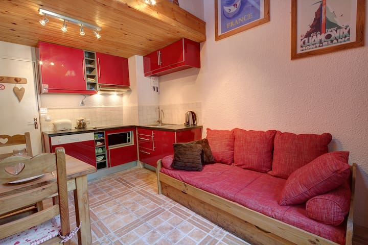 Triplex studio in central part of Chamonix