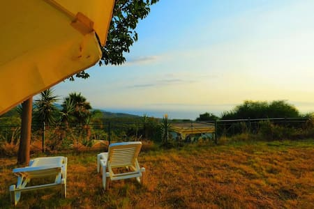 DANAE Studio / lovely garden / sea view - Mikri Mantineia - Apartment
