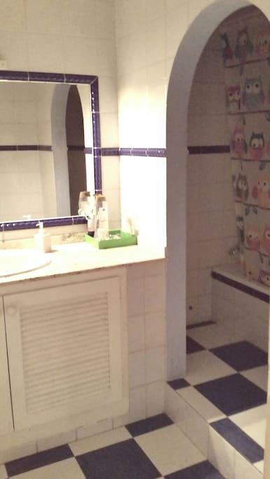 El baño para huespedes