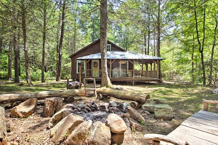 Modern Cabin Retreat on 10 Acres w/ Trout Stream!