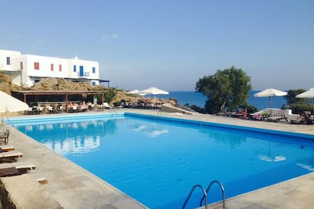 House in Private Resort: Concierge/Pool/Prv. Beach - Mikonos