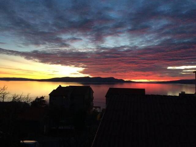 view from the balcony, apartment Lara Senj