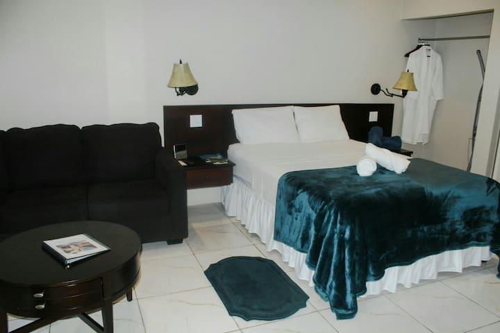 Serene Inn, Tobago.  Tranquil Hotel Suite