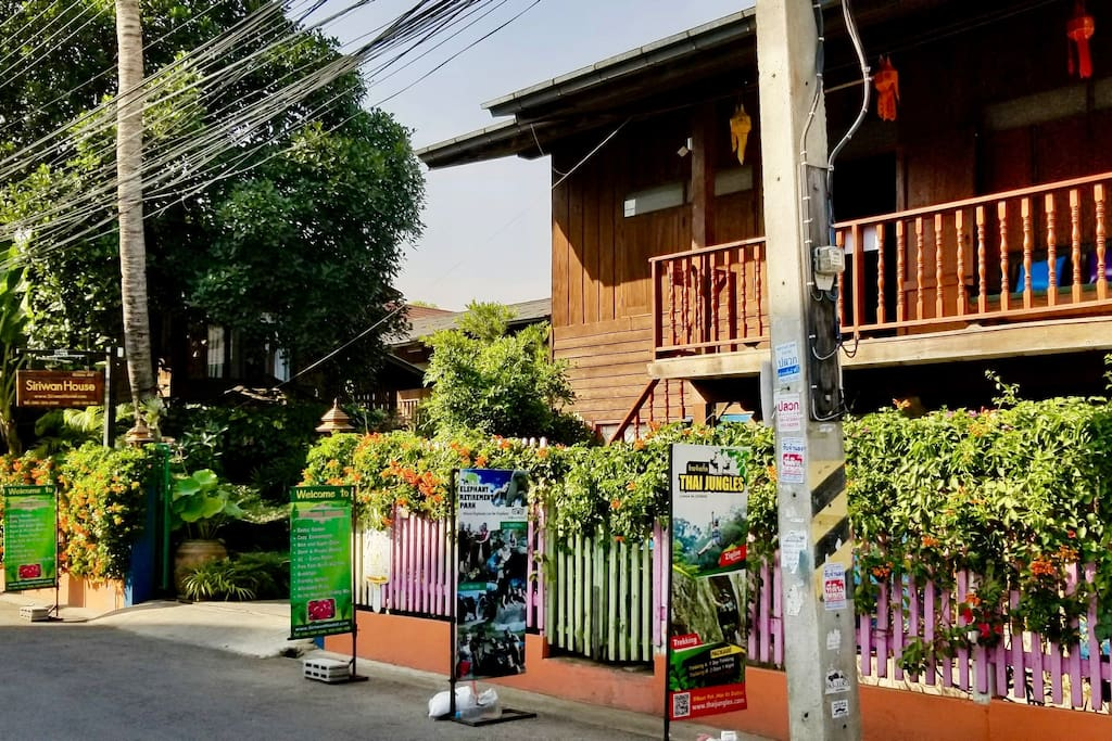 Front view of Siriwan House