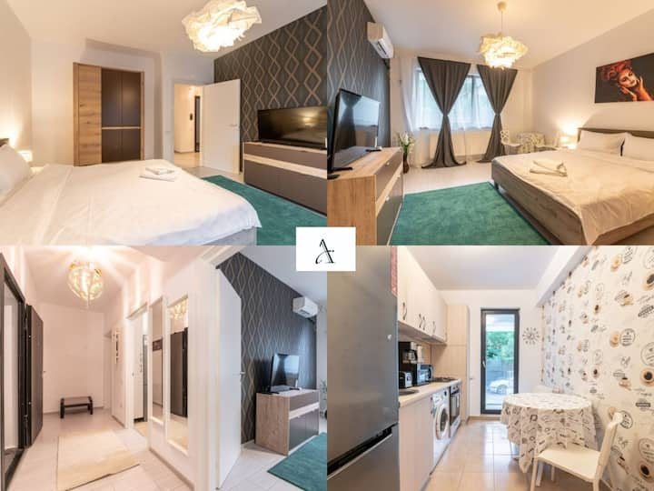🔑Cozy 🛌  Studio close ☕ Băneasa Shopping City❤️