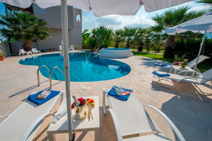 XENOS VILLA2  WITH PRIVATE POOL NEAR THE SEA