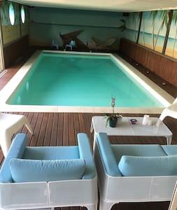 Chambres cosy dans spacieuse maison avec piscine - Chazé-sur-Argos