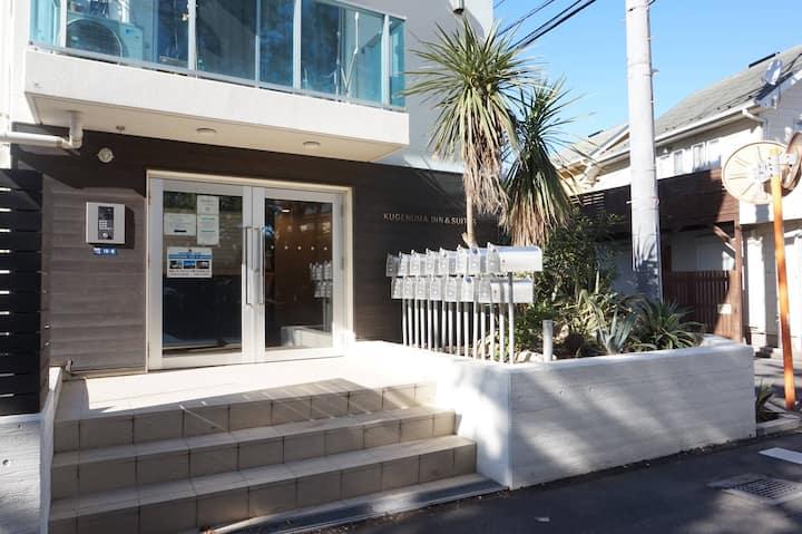 江ノ島も見えるキッチン付きのアパートメントホテル。鎌倉観光にも便利です。【405】