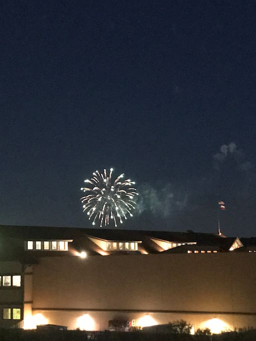 Catch the six flags firework show from the balcony!