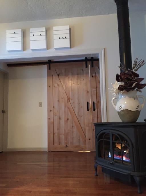 Original hardwood & gas fireplace.