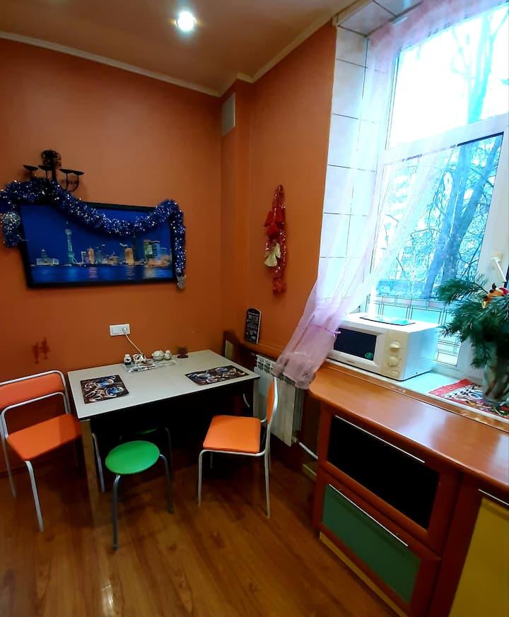 Двухкомнатная квартира на Октябрьском проспекте.