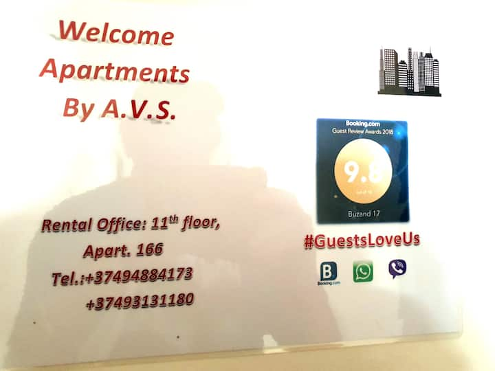 Welcome Apartments by AVS- 17 Buzand C165 Yerevan