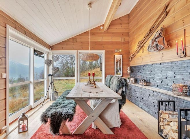 Wounderful cabin in the Alps - Sæbø - Alojamento ecológico