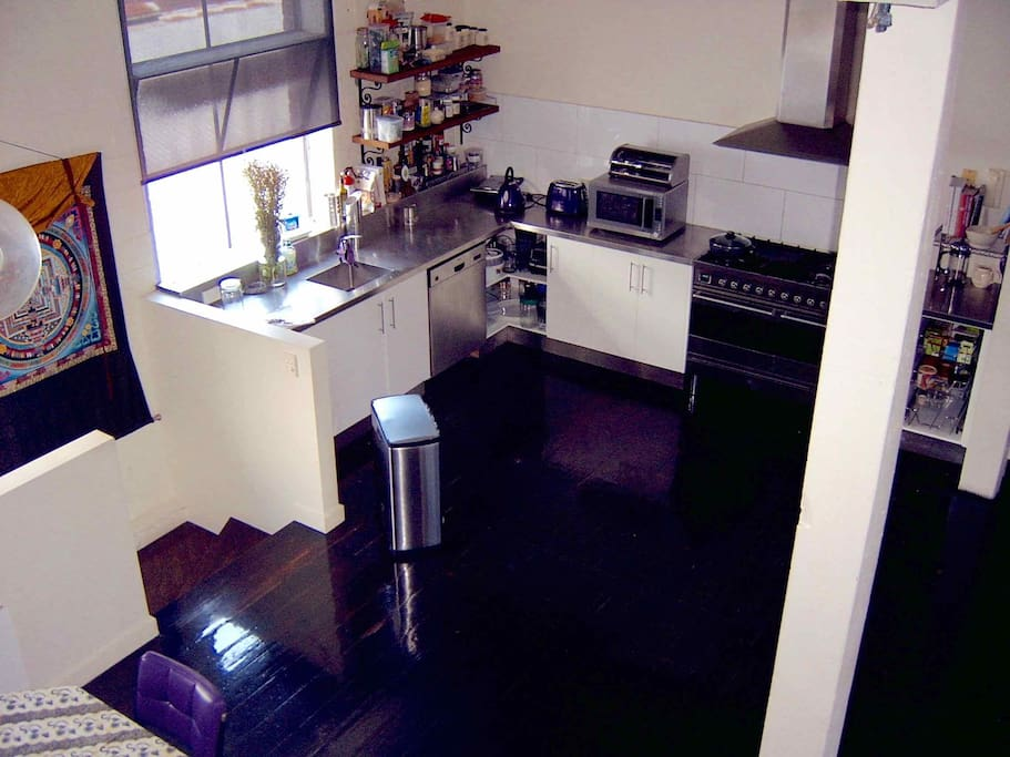 Level 2 - Kitchen - seen from halfway up stairs to top floor