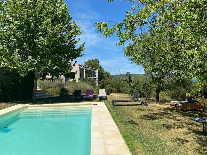 Maison 6ch, piscine, sur le lac StCroix - Bauduen
