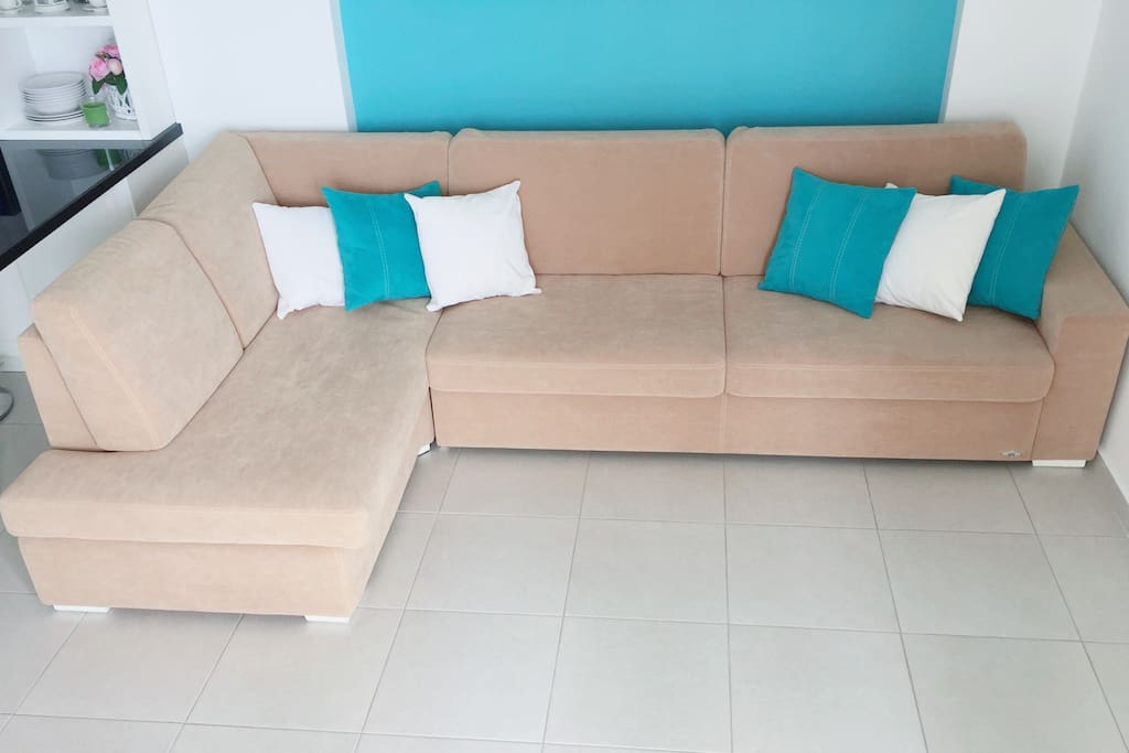Designer sofa.  Handmade.  It is made by one of the best ateliers in Greece.