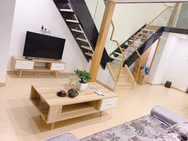 【沁心居】海景复式loft单身公寓,简日式温馨民宿