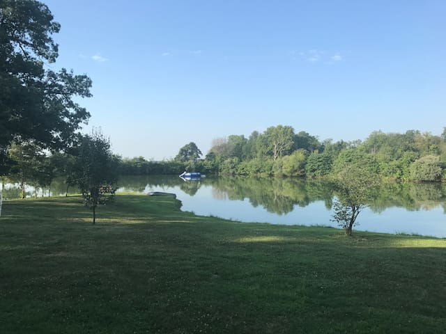 Private lake with life jackets available on site.  The water trampoline is not available at this time.