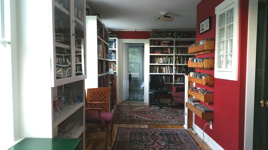 Library, in the Housatonic House on the Hill