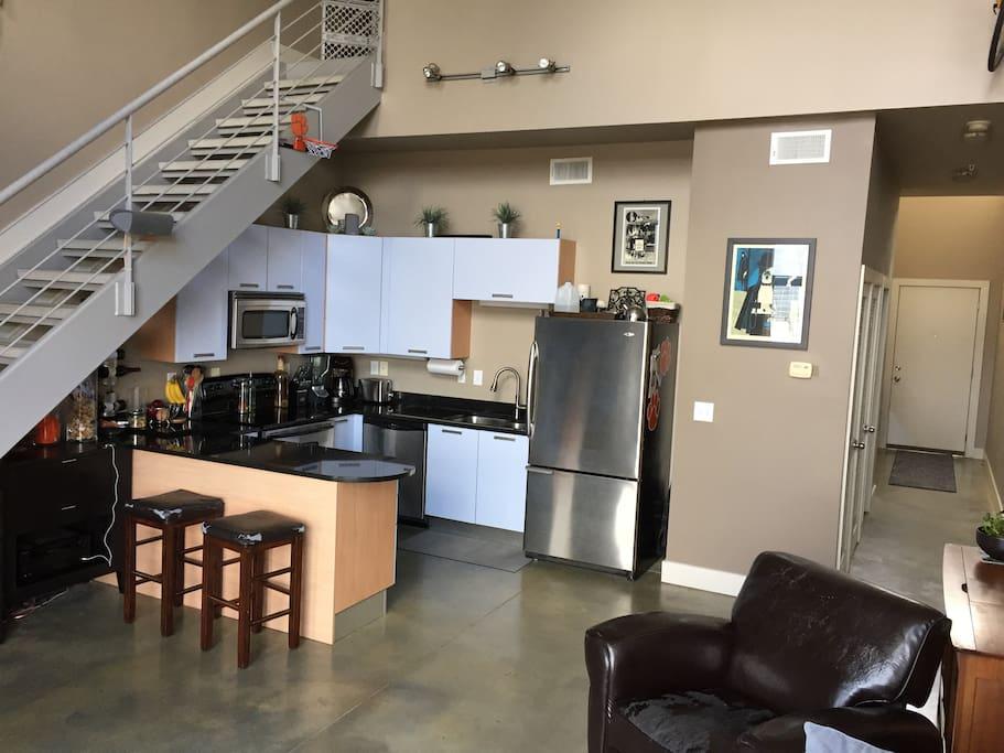 Kitchen / common space.