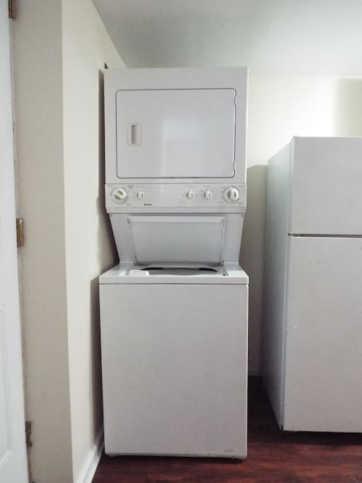 Washer and dryer for your exclusive use.