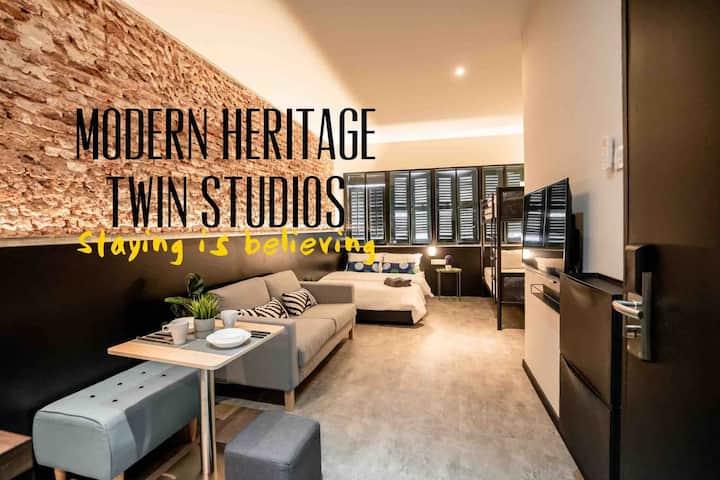 Chic&Modern 2 Heritage Studios @Chulia St 9paxWIFI