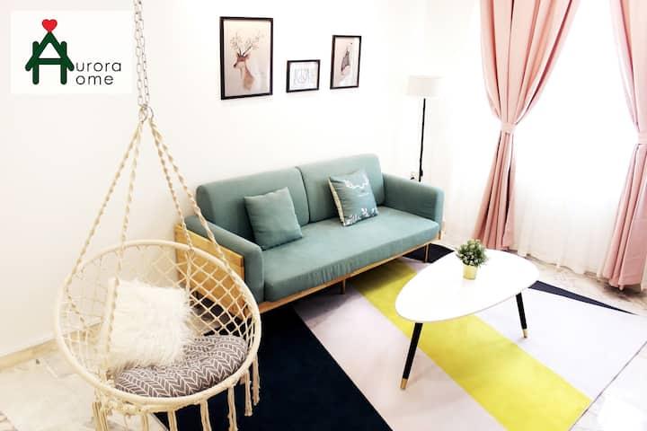 Wawasan Puchong- 2 King 1 Queen bed/ Swing/ 三房田园风