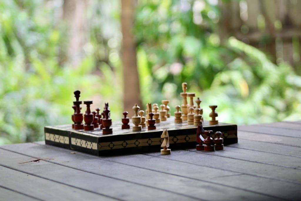 We do love a game of chess, by the fire or on the deck!