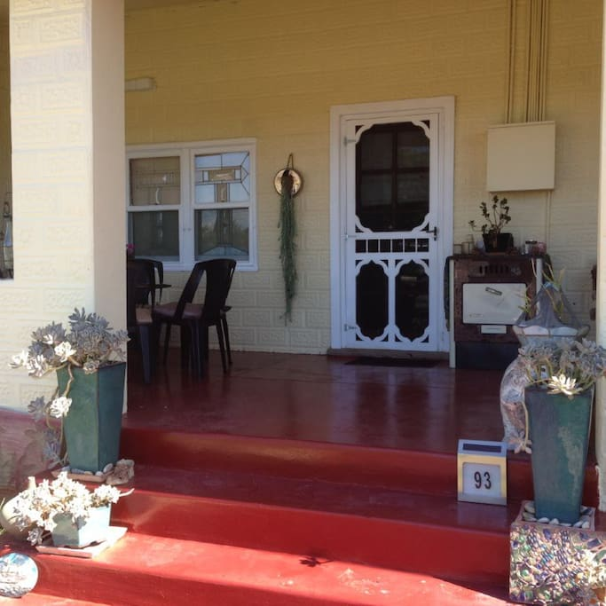 Front verandah - great place to sit and watch the world go by
