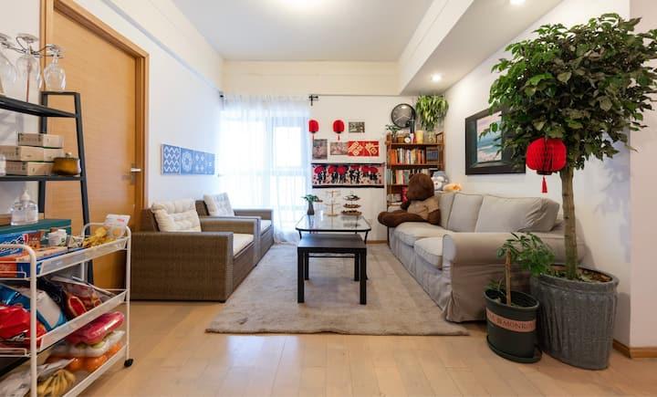 【小熊维尼之家】独立房间-非整套 宜家风/市中心毗邻海河/鼓楼著名风景区