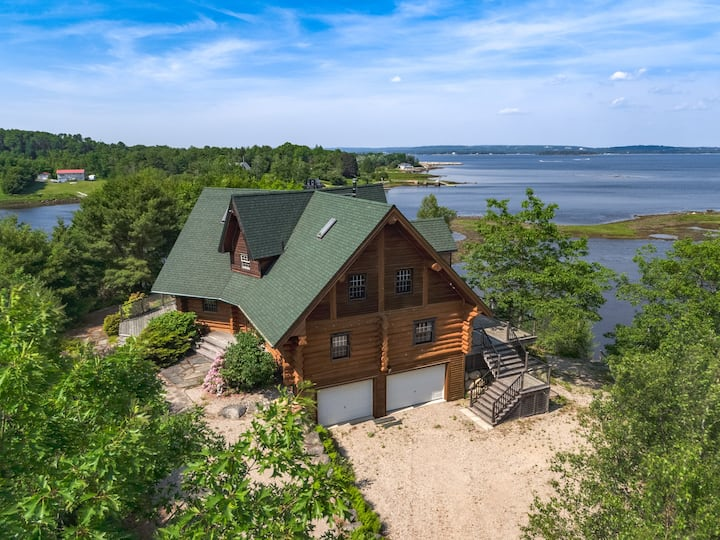 Astounding Oak Island Luxury Log Chateau