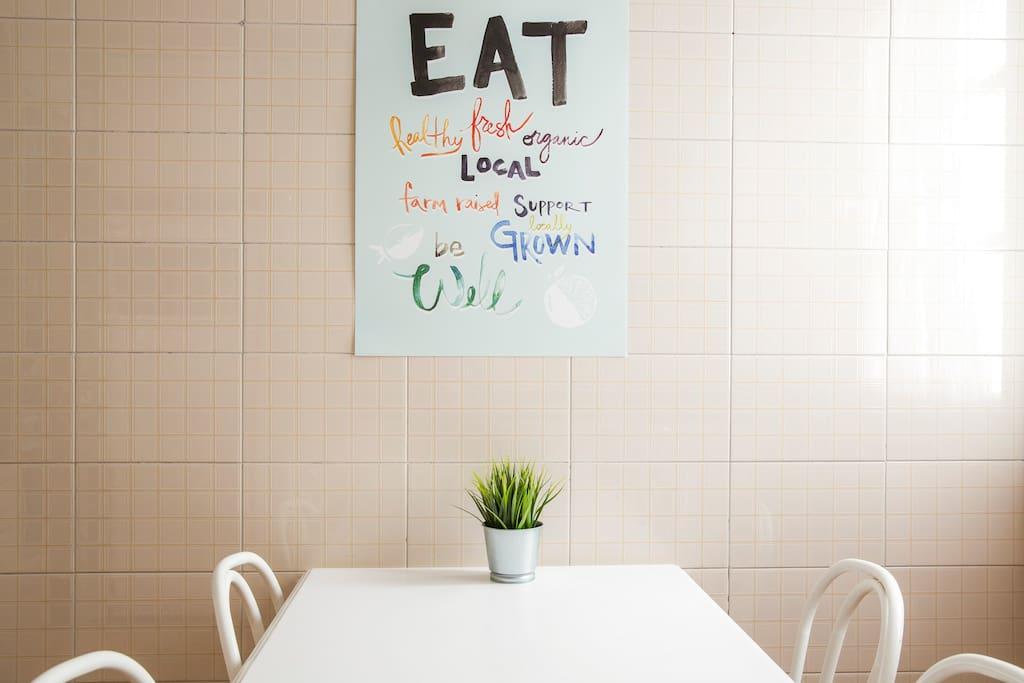 Eat, clean, repeat ;)