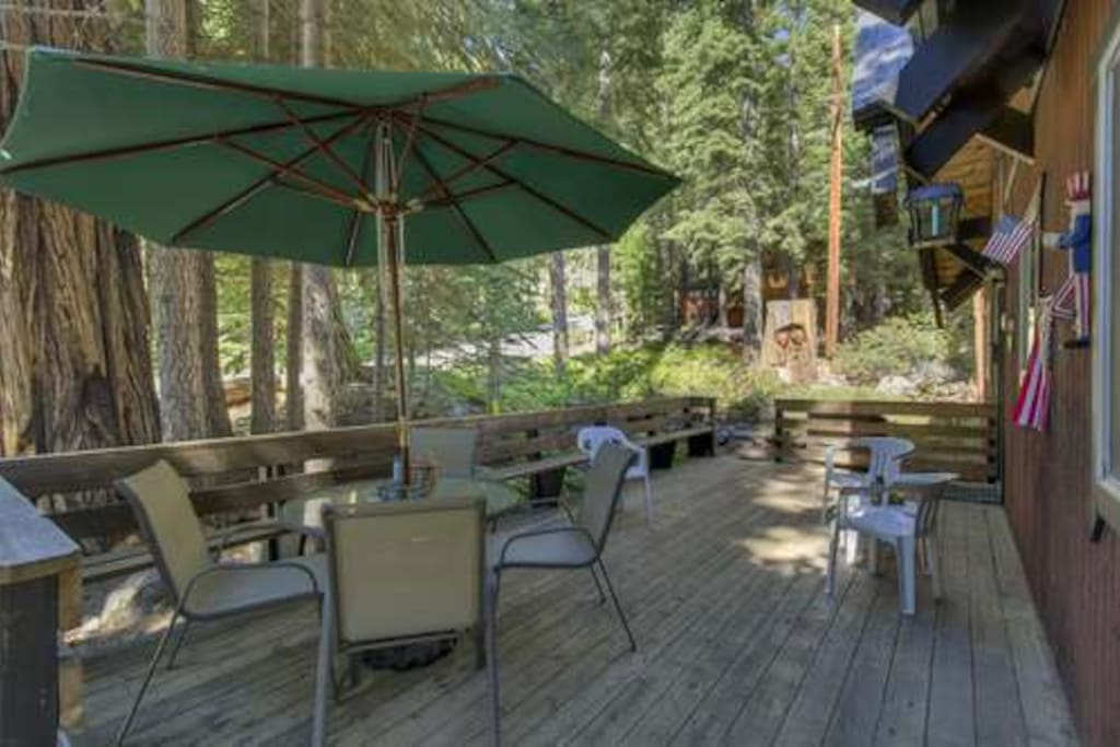 nice deck to enjoy the Tahoe outdoors