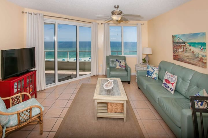 PET FRIENDLY Gulf-front 2BR/2BA, Slps 7, WiFi, W/D, Pool, Free Activities - Silver Beach 503