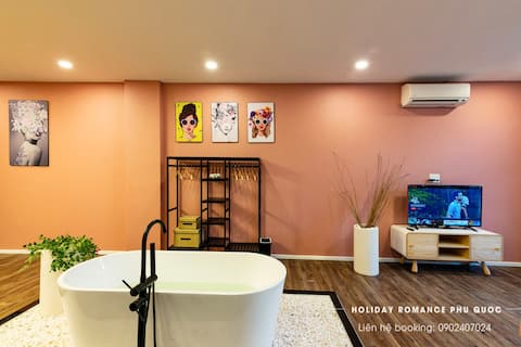 Apartment with Bathtub ★ Free Beach ★Pool★Scooter