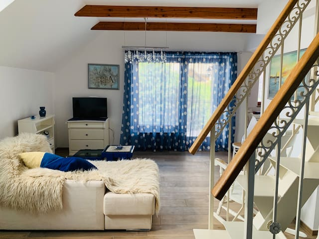 Open and cosy living area
