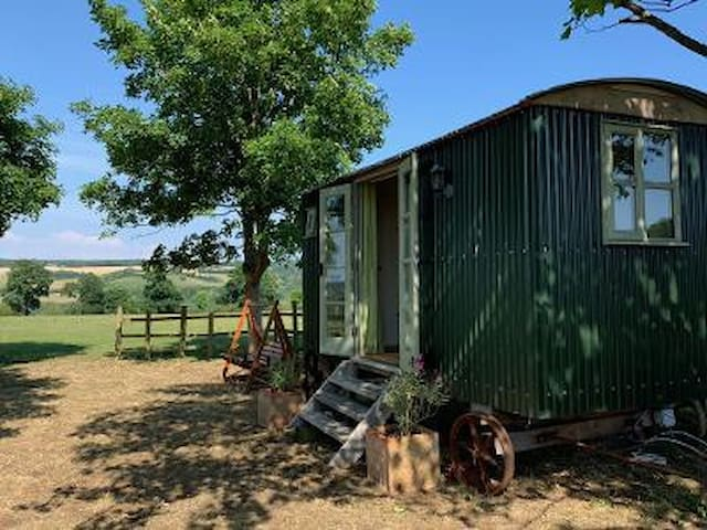 Luxury Shepherds Hut with spectactular views