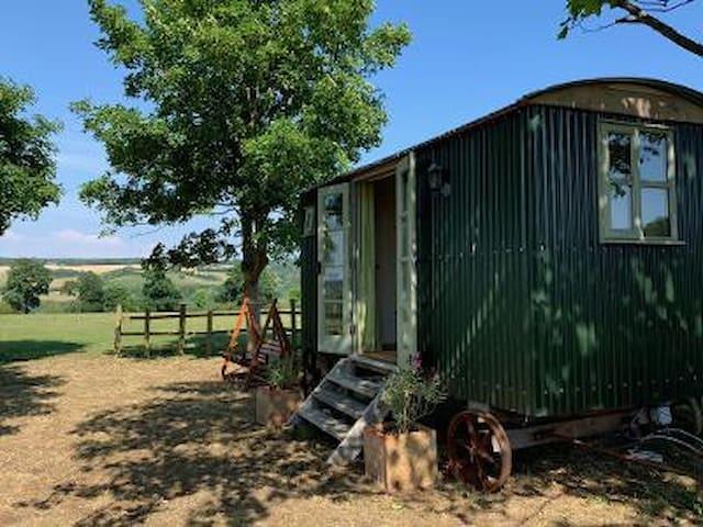 Luxury Shepherds Hut with spectactular views