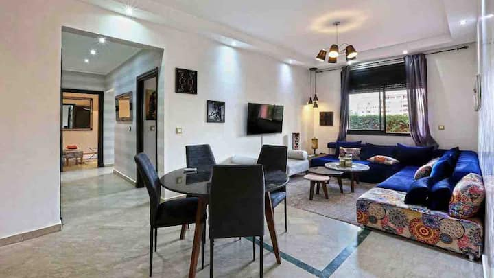 luxury apartment inthe heart of hivernage marakech