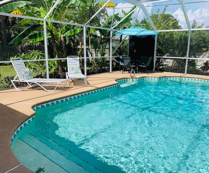 Space Coast 3 Bedroom with Heated Pool