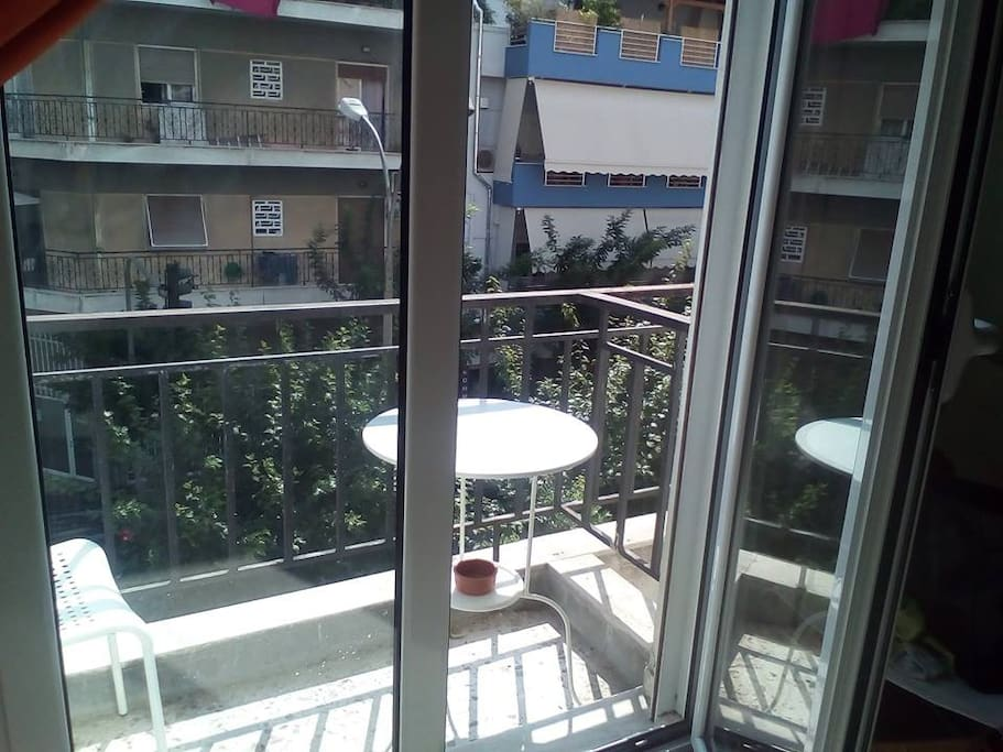 Balcony of the living room/kitchen