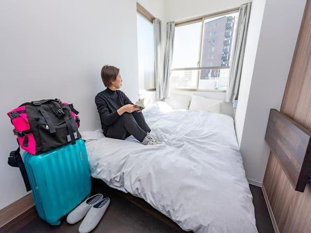 5mins->Minamisenju Sta/Standard Double room