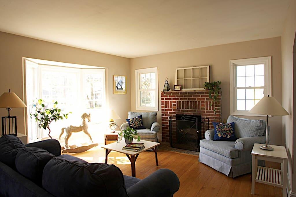 Bight, cozy living room