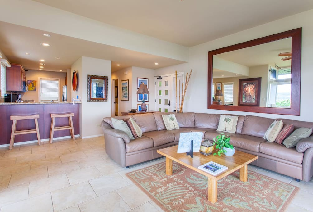 The villa features a remodeled floor plan with spacious interiors