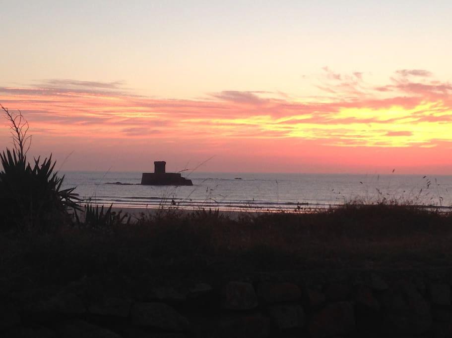 St Ouens beach sunset- 10 mins drive