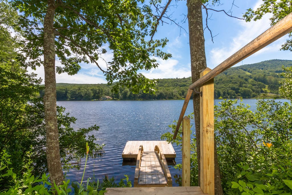 Private dock and Hosmer Pond--swim, boat and watch the loons!