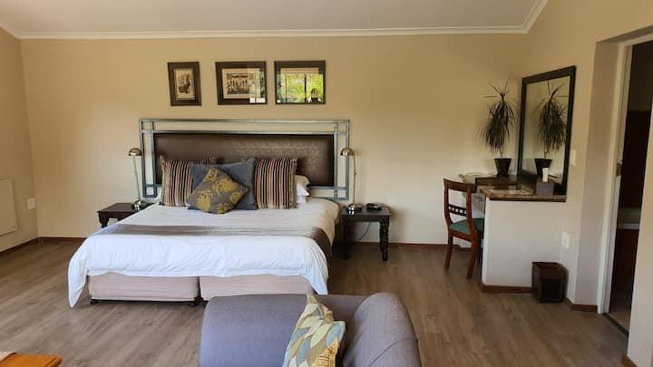Modern room with lagoon view romantic getaway