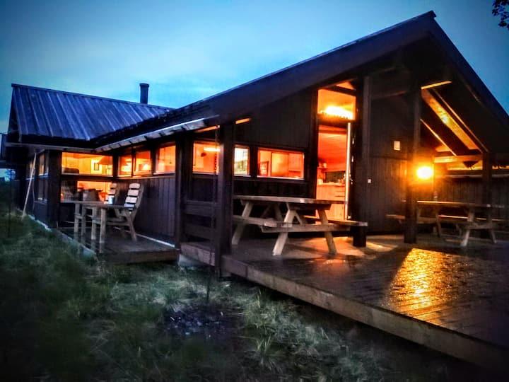 Unique cabin in the Norwegian mountains.