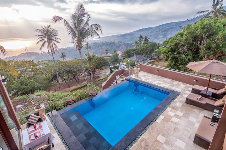 Spectacular Ocean Views - 2 BR Villa w/pool