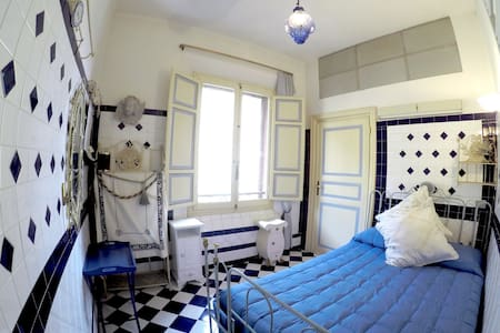 Blue Turkish Bedroom with a view - 博洛尼亚 - 公寓